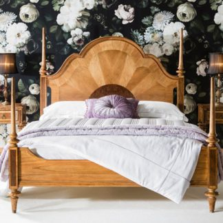 An Image of Spire Mindy Ash Wooden Super King Size Bed In Walnut
