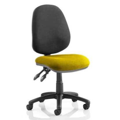 An Image of Luna II Black Back Office Chair In Senna Yellow