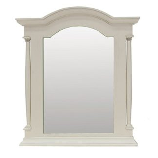 An Image of Alonzo Wooden Dressing Table Mirror In Antique White