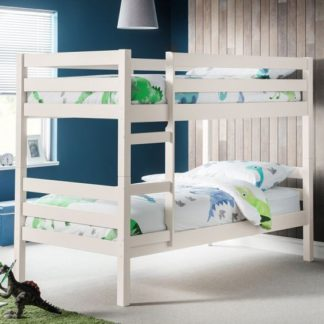 An Image of Winona Wooden Bunk Bed In Surf White Lacquer Finish