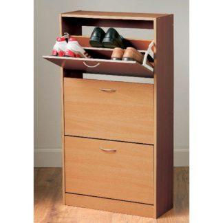 An Image of Envy Shoe Cabinet In Oak With 3 Drawer