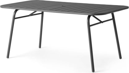 An Image of MADE Essentials Tice Garden 6 Dining Table, Grey