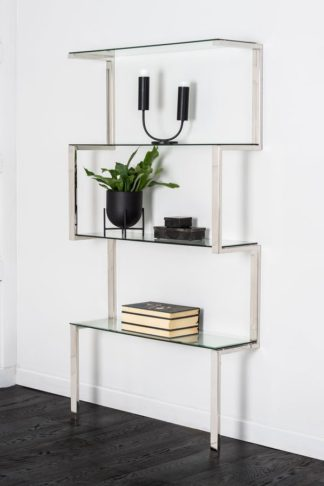 An Image of Miko Single Shelf Unit Chrome