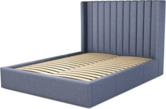 An Image of Custom MADE Cory King size Bed with Drawers, Denim Cotton