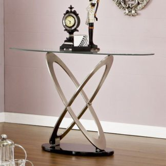 An Image of Sphere Glass Console Table