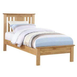An Image of Heaton Wooden Low End Single Bed In Oak