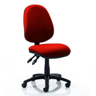 An Image of Luna II Office Chair In Tabasco Red