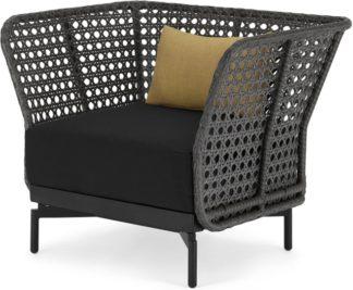 An Image of Balawa Garden Armchair, Grey