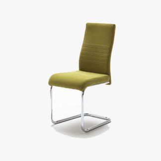 An Image of Jonas Metal Swinging Green Dining Chair