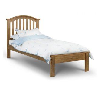 An Image of Brashear Wooden Single Size Bed In Light Oak Effect Finish