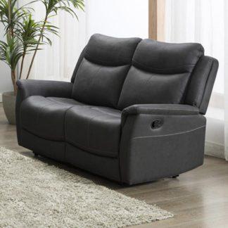 An Image of Arizona Fabric 2 Seater Manual Recliner Sofa In Slate