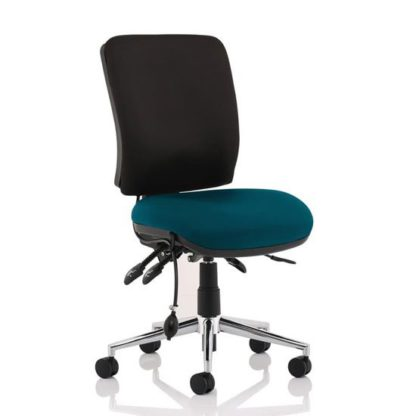 An Image of Chiro Medium Back Office Chair With Maringa Teal Seat No Arms