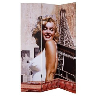An Image of Marilyn Monroe Double Sided Room Divider