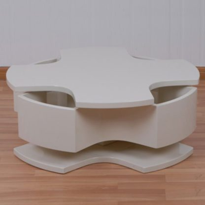 An Image of Optima Champagne High Gloss Motion Coffee Table