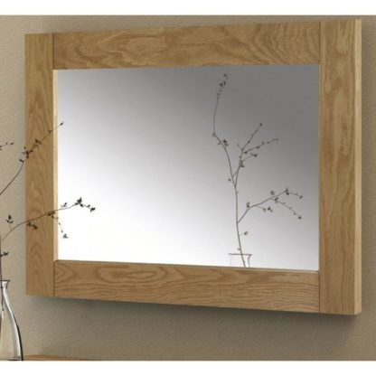 An Image of Astoria Wall Mirror With Solid Oak Frame