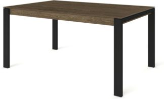 An Image of Custom MADE Corinna 6 Seat Dining Table, Smoked Oak and Black
