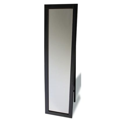 An Image of Cheval Contemporary Black Frame Freestanding Mirror