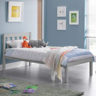 An Image of Luna Wooden Single Bed In Dove Grey