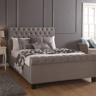 An Image of Neven Fabric Ottoman Storage King Size Bed In Silver