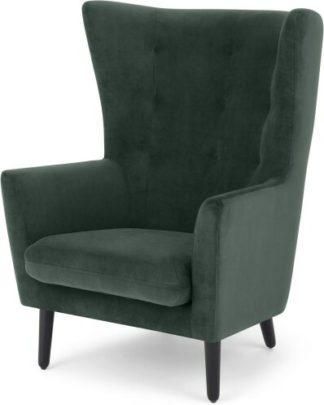 An Image of Dolton Accent Armchair, Autumn Green Velvet