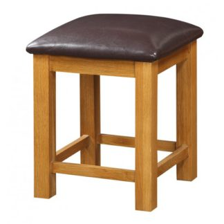 An Image of Acorn Wooden Dressing Table Stool