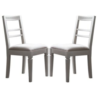An Image of Bronte Taupe Dining Chairs In Pair