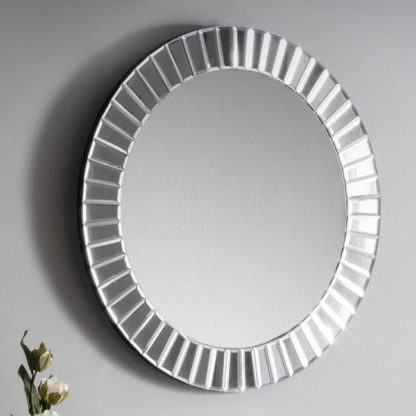 An Image of Sonata Small Round Wall Mirror