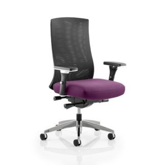 An Image of Scarlet Home Office Chair In Purple With Castors