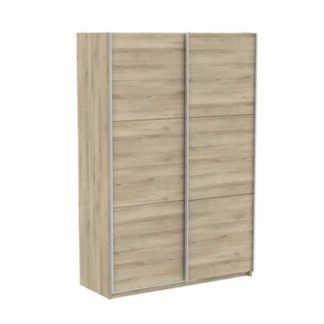 An Image of Selsey Sliding Wardrobe In Kronberg Oak With 2 Doors