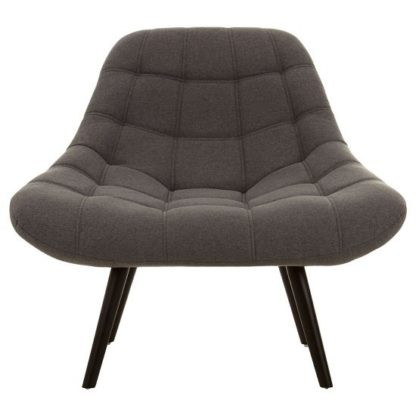 An Image of Hyadum Faux Linen Upholstered Bedroom Chair In Grey