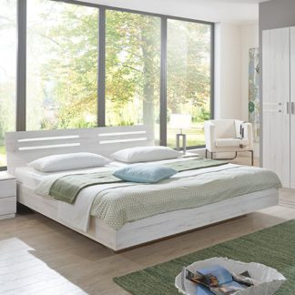 An Image of Susan Wooden King Size Bed In White Oak