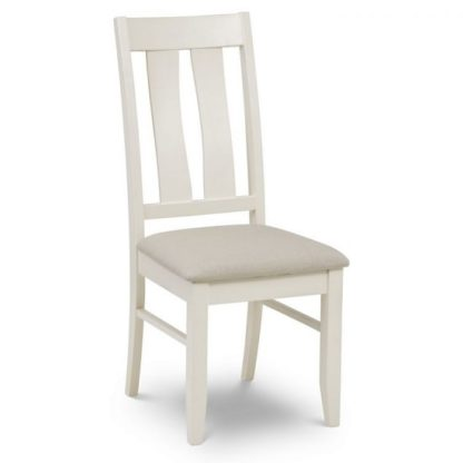 An Image of Atlantis Wooden Dining Chair In Ivory Lacquered Finish