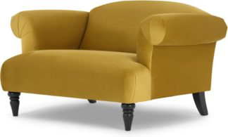 An Image of Claudia Loveseat, Antique Gold Velvet