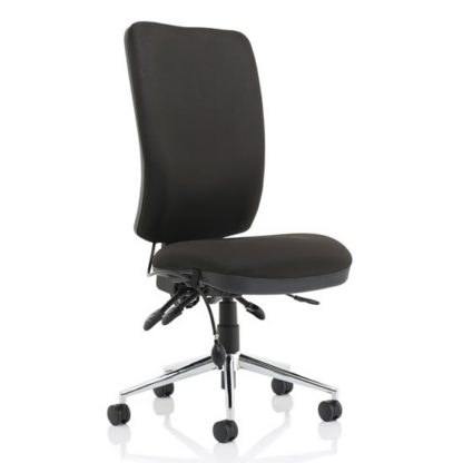 An Image of Chiro Fabric High Back Office Chair In Black No Arms