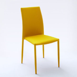 An Image of Mila Upholstered Curry Colour Dining Chair