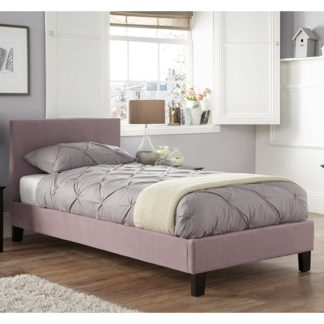An Image of Evelyn Latte Fabric Upholstered Single Bed