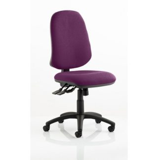An Image of Olson Home Office Chair In Purple With Castors