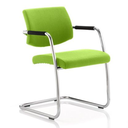 An Image of Marisa Office Chair In Green With Cantilever Frame