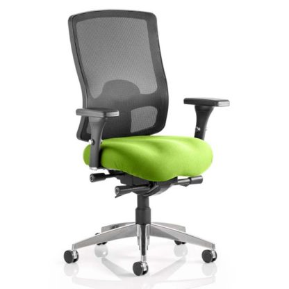 An Image of Regent Office Chair With Myrrh Green Seat And Arms