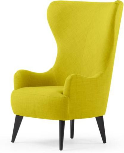 An Image of Custom MADE Bodil Accent Armchair, Light Moss
