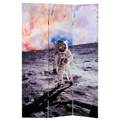 An Image of Barnt Space Man Double Sided Print Design Room Divider