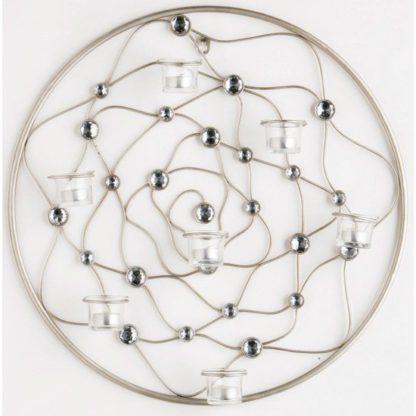 An Image of Circular Wire Gem Wall Art