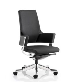 An Image of Cooper Office Chair In Black Fabric With Medium Back