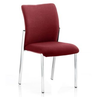 An Image of Academy Fabric Back Visitor Chair In Ginseng Chilli No Arms