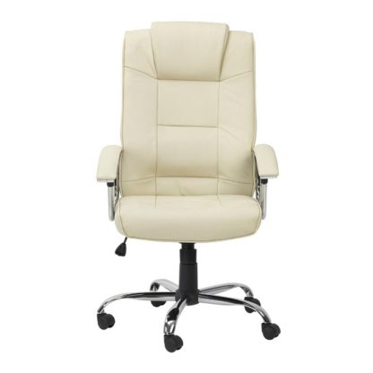An Image of Hoaxing Office Executive Chair In Cream Finish