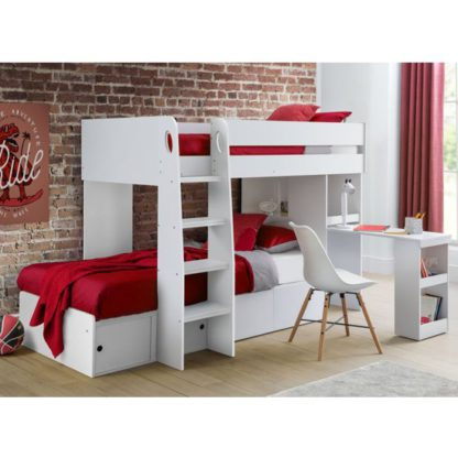 An Image of Eclipse Wooden Bunk Bed In White