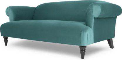 An Image of Claudia 3 Seater Sofa, Peacock Blue Velvet