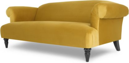 An Image of Claudia 3 Seater Sofa, Antique Gold Velvet