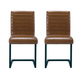 An Image of Montana Brown Finish Dining Chairs In Pair