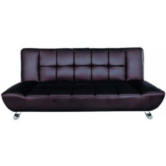 An Image of Vanessa Brown Faux Leather Sofa Bed